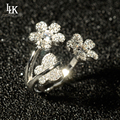 2016 New Genuine 925 Sterling Silver Ring For Women Real Silver Jewelry Silver Butterfly Flower Party Ring Brand Pure Silver