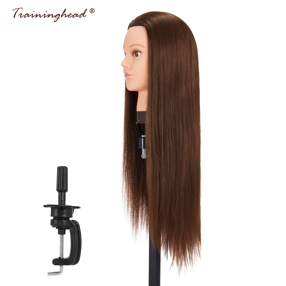 Traininghead 26-28 Female Mannequin Head For Wigs Synthetic Hair Salon Braiding Training Head Professional Makeup Practice Head