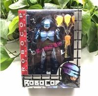 RoboCop Murphy Game Battle Damage robot 1987 movie gun Anime Game Figurine PVC Action Figure Model Toy 17cm