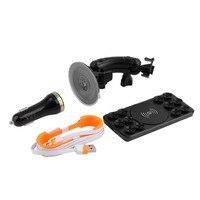 1 Takım Yeni Qi Kablosuz Araç Şarj Verici Pad Cradle Şarj Tutucu Cep Telefonu Için Promosyon