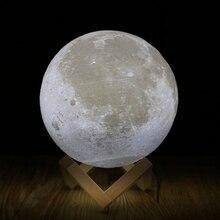 Rechargeable 3D Print Moon Lamp 2 Color