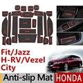 Противоскользящий резиновый коврик для чашки для Honda Fit Jazz GE6 GK5 HR-V Vezel City Odyssey Crosstour аксессуары наклейки HRV 2015