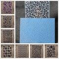 Пластиковая папка для скрапбукинга с цветочными сердечками, кружевными листьями, для украшения альбома, бумажных открыток на день рождения