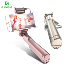Floveme bluetooth selfie стик для iphone 6 6s 6 plus 6 splus 5 se 7 плюс портативный монопод selfie палочки для samsung s7 edge S8 +