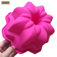 Nordic Ware Bundt Cake Pan Silicone Mold Fluted Spiral Bakeware Baking Flower Cake Mould Chocolate Soap Bread Fondant Sugarcraft