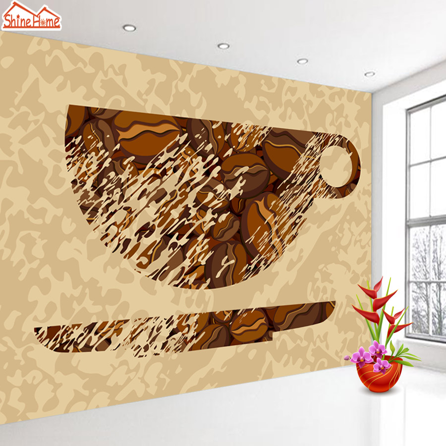 ShineHome-Classical Tea Cup Sketch Retro 3d Art  Photo Wallpaper for Walls 3 d  Living Room Wallpapers Mural Roll Wall Paper shinehome sunflower bloom retro wallpaper for 3d rooms walls wallpapers for 3 d living room home wall paper murals mural roll