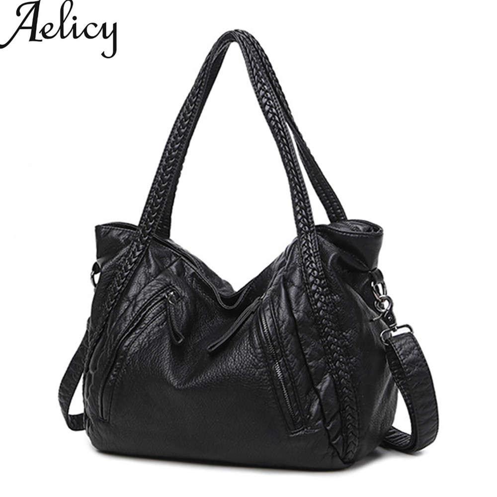 2017 Mode Aelicy Frauen Große Weiche Leder Handtaschen Damen Umhängetaschen Für Frauen Weibliche Schulter Tasche Große Tote Bolsos Mujer Senility VerzöGern