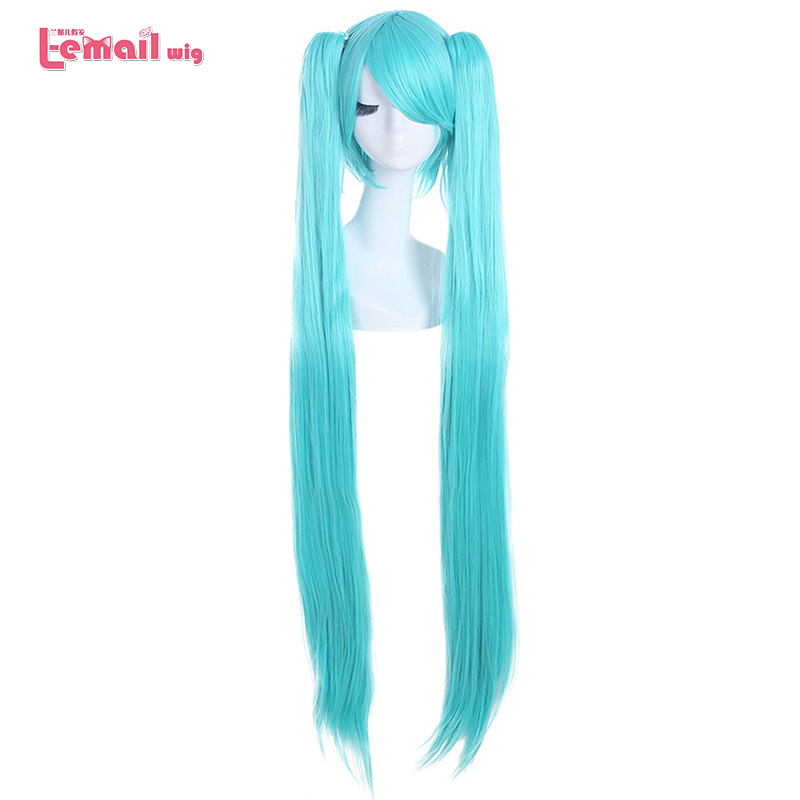 L-email Wig VOCALOID Hatsune Miku 120cm/47.24inches Cosplay Wigs Long Blue Heat Resistant Synthetic Hair Perucas Cosplay Wig