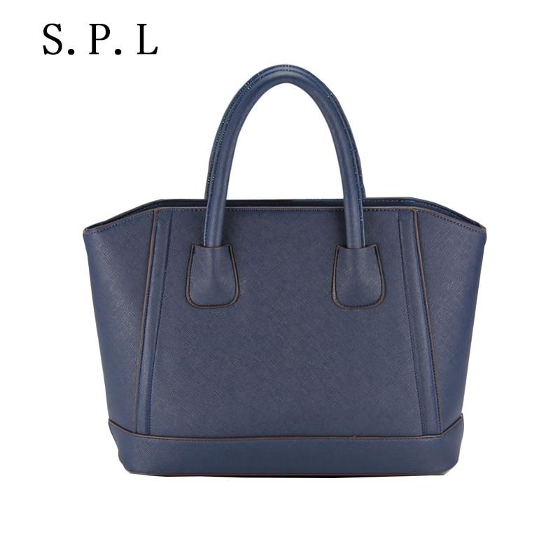 ФОТО S.P.L. sping  2017 handbag women cross pattern luxury handbags women bags designer pu leather bag candy color