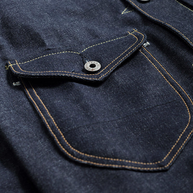 indigo selvage unwashed  vintage hand made top quality super heavy 16oz raw denim jacket-in Jackets from Men's Clothing    3