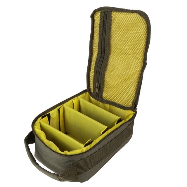 600D Oxford bolsa de pesca al aire libre multifunción bolso de pesca ejército verde línea de pesca carrete anzuelo almacenamiento bolsas 2018