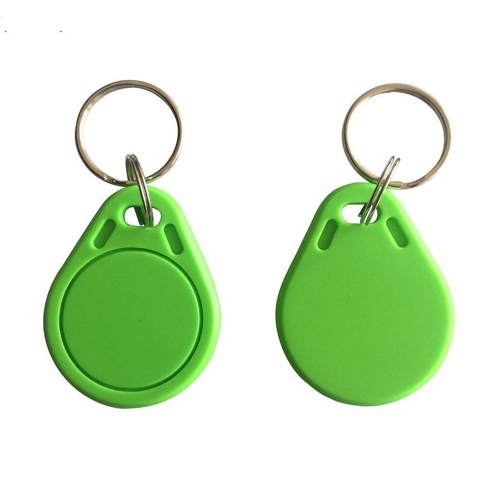 RFID ISO14443A RFID MF Classic 1K® access control card Key fob NFC Tag key token Green Color 100PCS hw v7 020 v2 23 ktag master version k tag hardware v6 070 v2 13 k tag 7 020 ecu programming tool use online no token dhl free