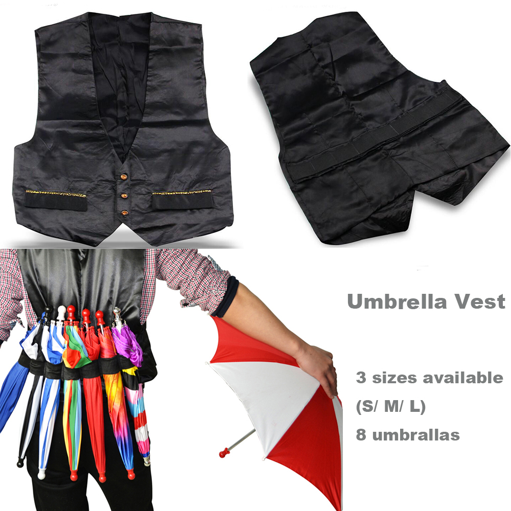Manipulation Umbrella Vest Stage Professional Magic Tricks Props Toys Magician Magia 3 Sizes