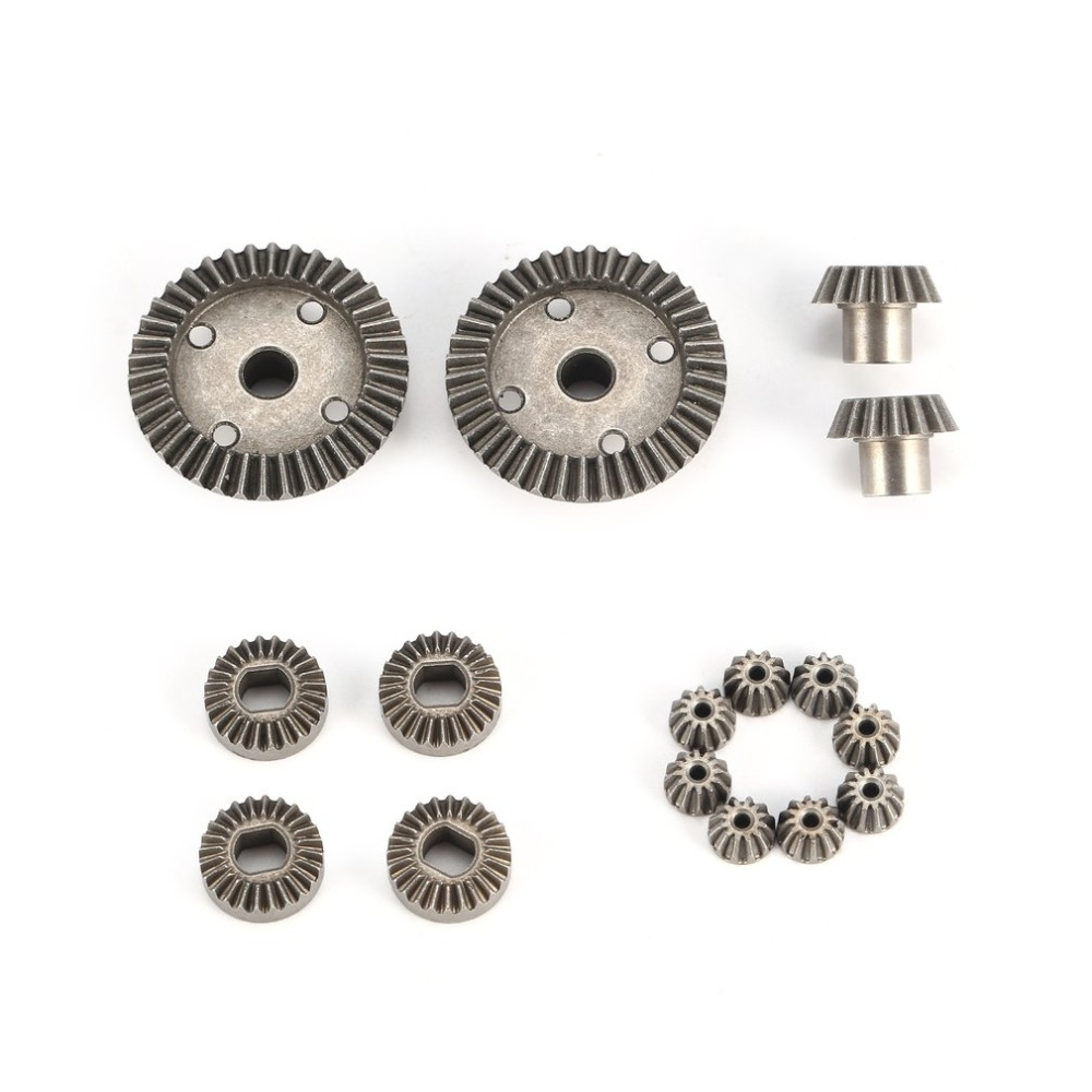 цена на 12T 15T 24T 38T Metal Front Rear Differential/ Motor Driving Gear Upgrade Parts Two Sets for WLtoys A949 A959 1/18 RC Car