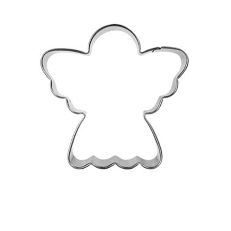 1db rozsdamentes acél angyal fém cookie vágó szerszámok - Konyha, étkező és bár - Fénykép 2
