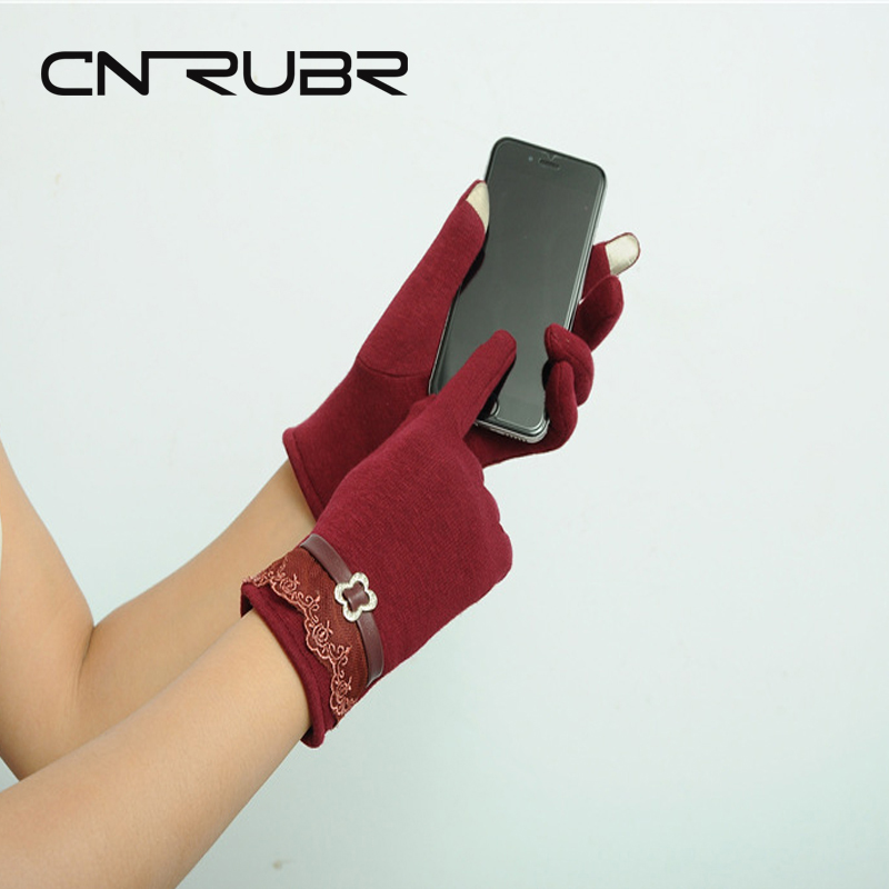 High Quality! Fashion Screen Gloves Ladies Womenss