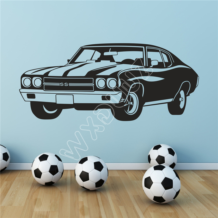 WXDUUZ Super Sport Car Vinyl Wall Art Decal Boys Teenagers Bedroom Vinyl living room space Wall Sticker Home Decor B538 ...