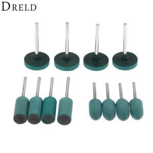 Image 1 - DRELD 3 Teile/los Gummi Schleifen Kopf Polieren Polieren Rad für Elektrische Mini Grinder Dremel Rotary Werkzeuge Zylinder/Kugel/T Typ
