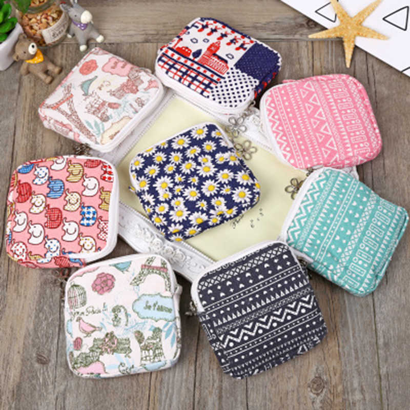 Sanitary Bag Napkin Towel Storage Bag Sanitary Pad Credit Card  Organizer Holder Bag Pouch Household Organization