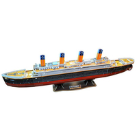 3D Paper Puzzle Toy DIY Royal Mail Steamship Titanic Ship Model Educational Jigsaw Puzzle Toys For