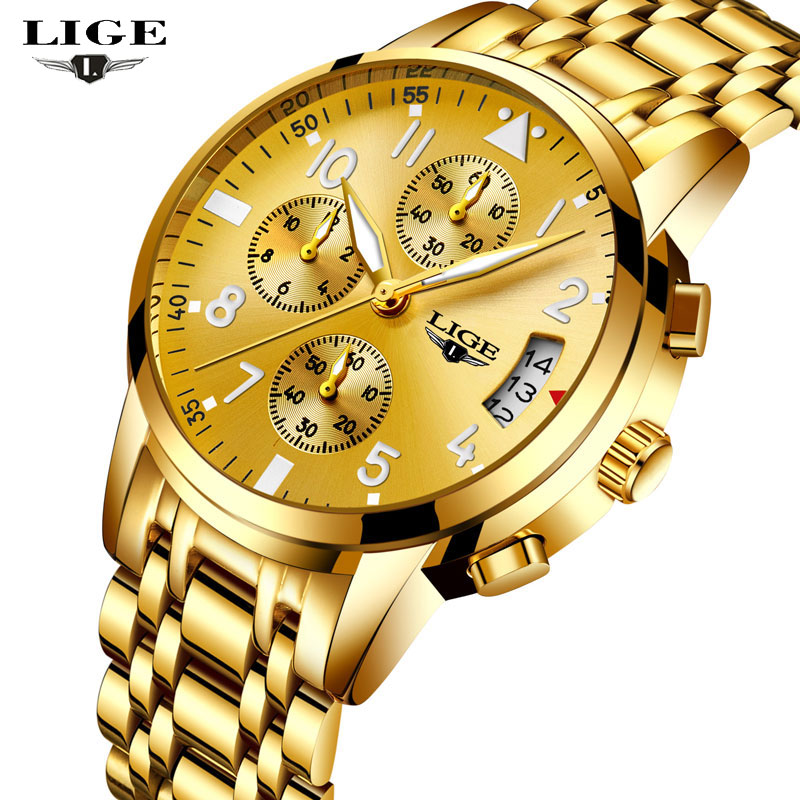 Relogio Masculino 2017 LIGE Men Watches Top Brand Luxury Man Fashion Sport Quartz Watch Mens Multifunction Date Full Steel Clock lige gold watch men new mens watches top brand luxury business clock man full steel fashion sport quartz watch relogio masculino