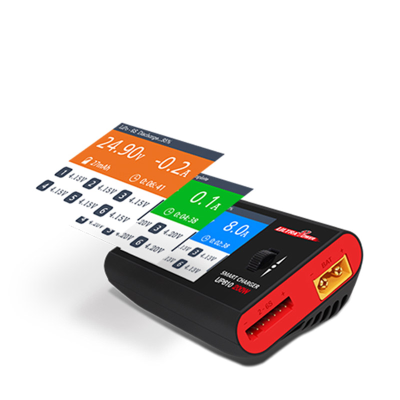 Free shipping high quality RC Car UltraPower UP610 model balance charger lithium battery multi-function fast charging 200W 10A