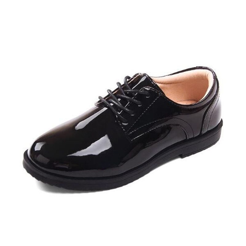 New Children Shoes Black Boys Leather Shoes Student Baby Low-heeled Casual  Party Wedding Dress Shoes Kids Toddler Flat 02B