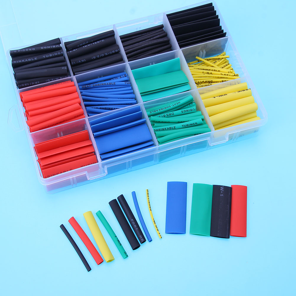 цена на 530pcs/set Heat Shrink Tube Electronic Polyolefin Ratio 2:1 Wrap Wire Cable Sleeve Insulation Heat Shrinkable Tube Assortment