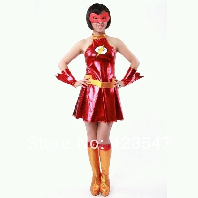 DC Comics Flash rojo y amarillo de traje de Halloween Disfraces de Carnaval  jugar ba1348cebd4
