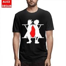 Leorio  Kurapica Mens Quality Hunter X Black Summer Newest T Shirt Cheap 100% Cotton Free Shipping Tshirt Risk