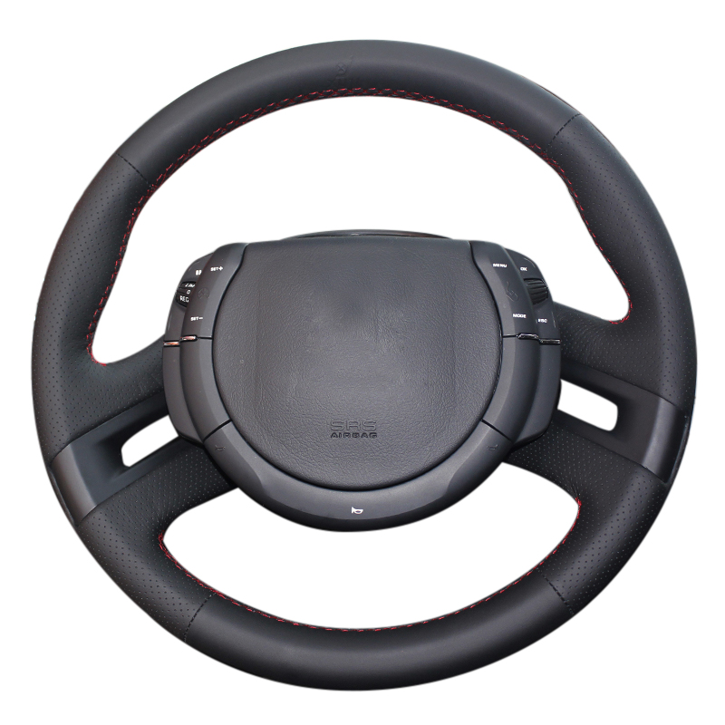 DIY Heated steering wheel cover for Citroen Triumph C4 2005-2010 car styling Microfiber leather Braid on the steering wheel