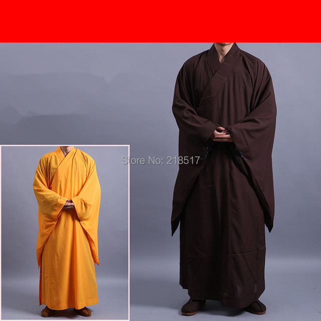 Унисекс Haiqing лежал одежда храм Шаолинь костюм буддийские халат платье Zen буддийский костюм для медитации монах одежда лежал костюм монаха