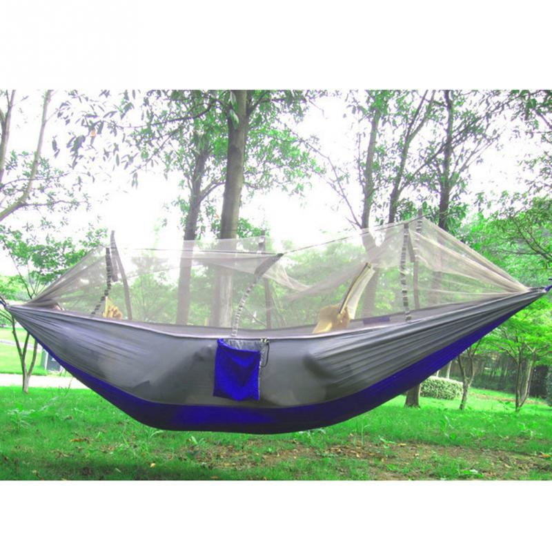 Camping hammock mosquito net hammock bed widened parachute for Net hammock bed