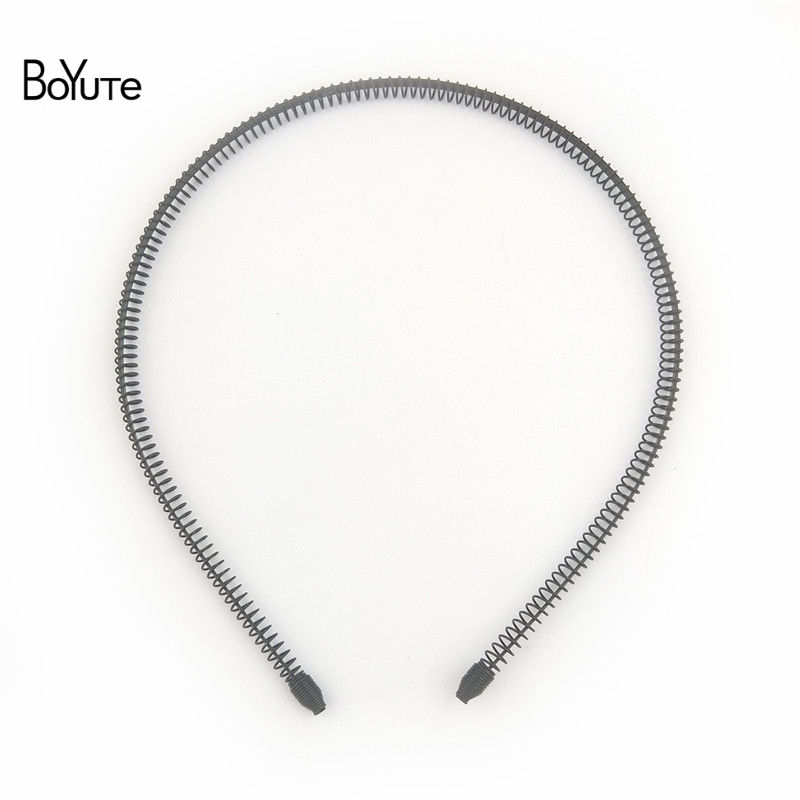BoYuTe Retail 1 Piece Metal Black Hair Band Hairband New Style Black Color Metal Headband (3)