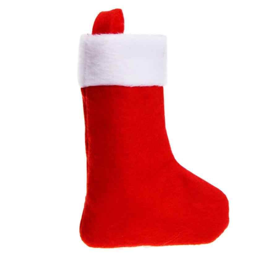 D3 1 ST Kerst Leuke Sok Vorm Vork Mes Pakket Opslag Servies Bestek Sets Covers Bag jul19