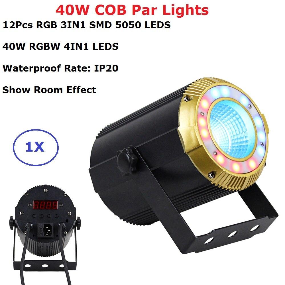Бесплатная доставка 40 Вт RGBW четырехцветный LED COB Par Светильник s IP20 для домашнего использования студийный театральный проектор DMX контроль св
