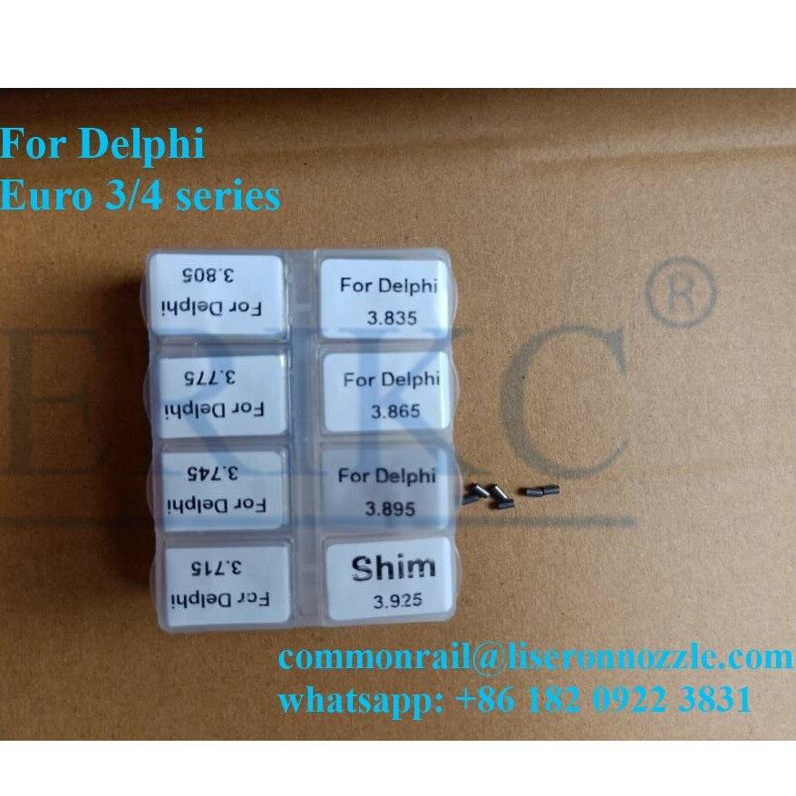 ERIKC Dichtungen Distanzscheiben Größe 3,715-3,925mm Injektor Düse Anpassen Scheibe Genauigkeit Insgesamt 80 stücke für für Delphi serie injektor