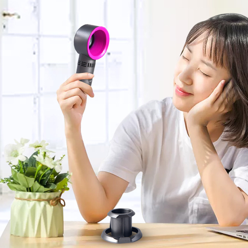 Mini fan Handheld Bladeless Fan DeskTable Air Cooler USB Rechargeable Fan With LED Ligth Display Portable Ventilator Outdoor  (4)