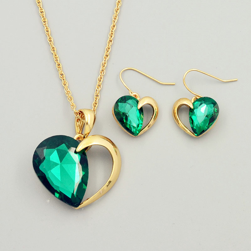 Aliexpress Com Buy New Fashion Necklace Earrings Bridal: Aliexpress.com : Buy New Fashion Wedding Jewelry Set Heart