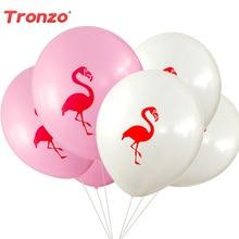 Tronzo 10pcs / παρτίδα Flamingo Latex Μπαλόνια Flamingo Κόμμα Διακόσμηση Παιδικά Ευνοεί Ροζ Καρτούν Μπαλόνια Ζώων Είδη Γάμου