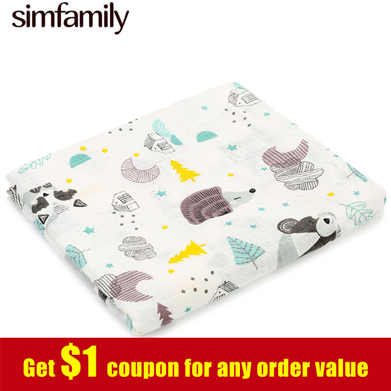 [simfamily] 1pc Newborn Muslin Bebek Battaniye Swaddle Baby Deken Cotton Blanket Infant Baby Kocyk Dla Dziecka Fotograf Cobertor