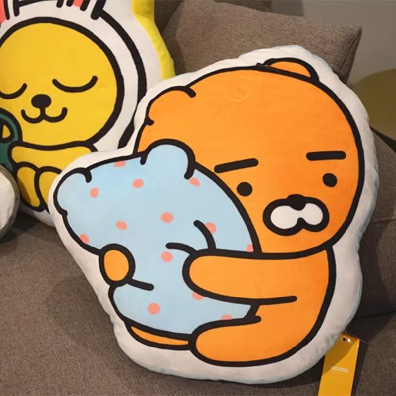 50cm Cute Kakao Friends Plush Pillow Ryan Cocoa Plush Dolls Cartoon Figure Soft Cushion Car Decoration Kids Doll Birthday Gift стоимость