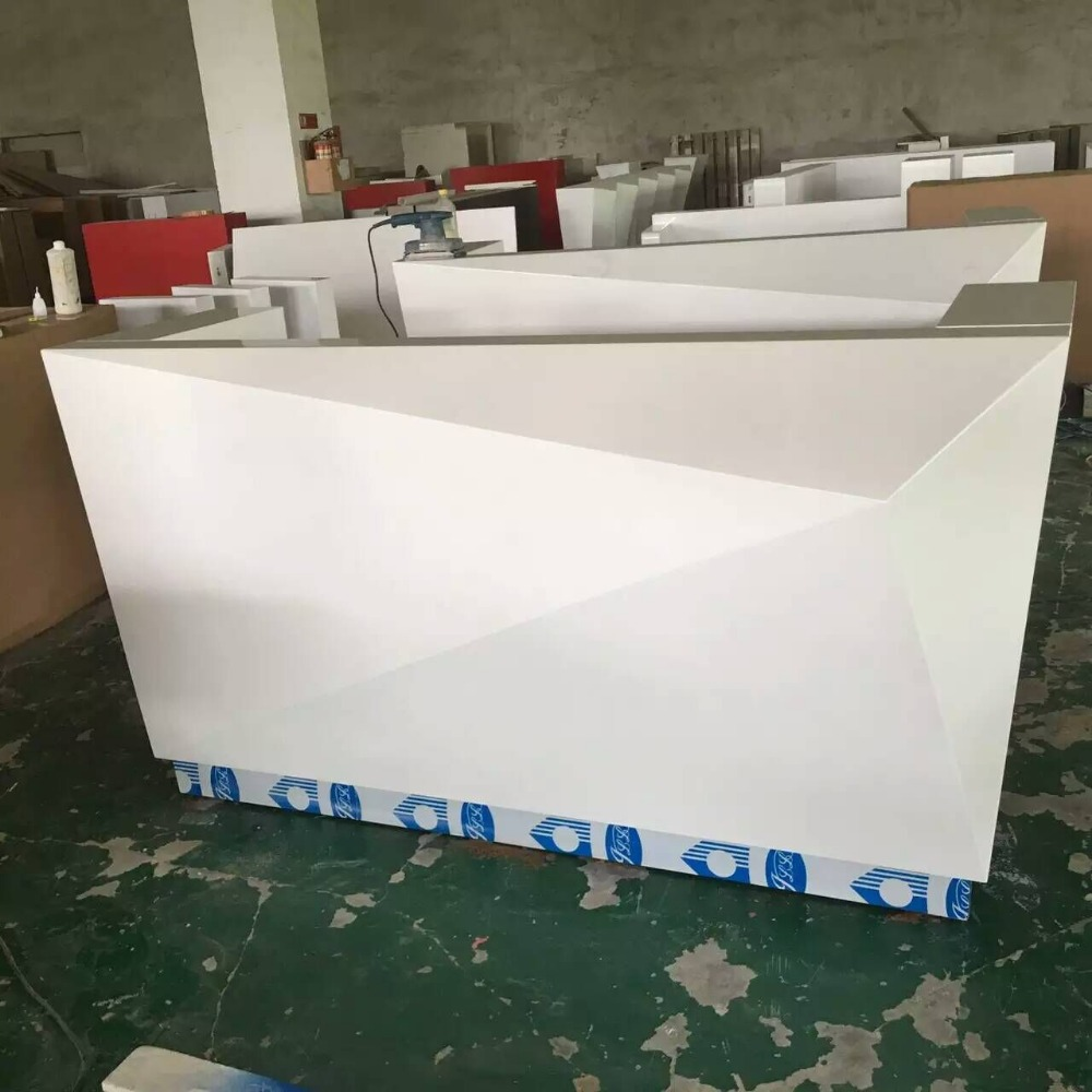 Modern White Regency Legacy Reception Desk With Counter  #2000