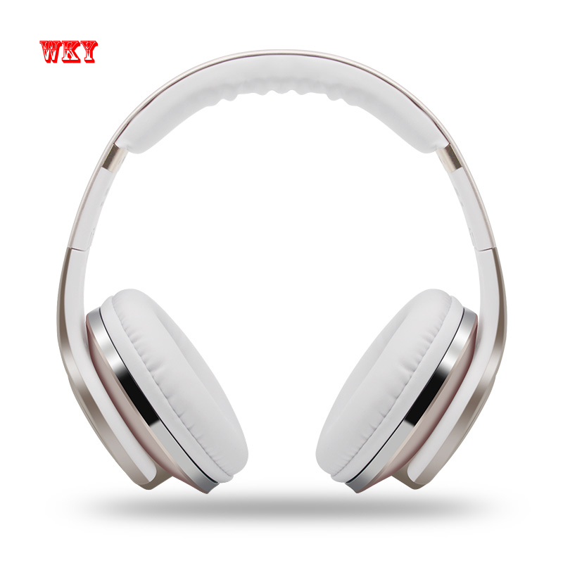 WKY Wireless Headphone Bluetooth & NFC Headset with Mic Headphone & Speaker 2 in 1 Support 32G TF Card FM Radio MP3 Music Player ms991 wireless headphones digital stereo bluetooth 4 2 edr headset card mp3 player earphone fm radio music for all