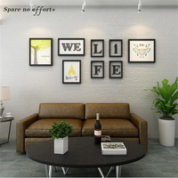 Love Family Picture Frame Set Wall Cadre Photo Murale with Shelf Modern Photo Frame 7pcs/set Wooden Picture Frame Set Wall Decor