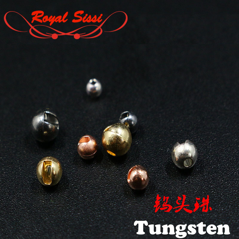 Hot 20pcs/set fly tying slotted tungsten head beads 4sizes high tense Counter Sunk tungsten beads heavy metal nymph flies head hot sale beads
