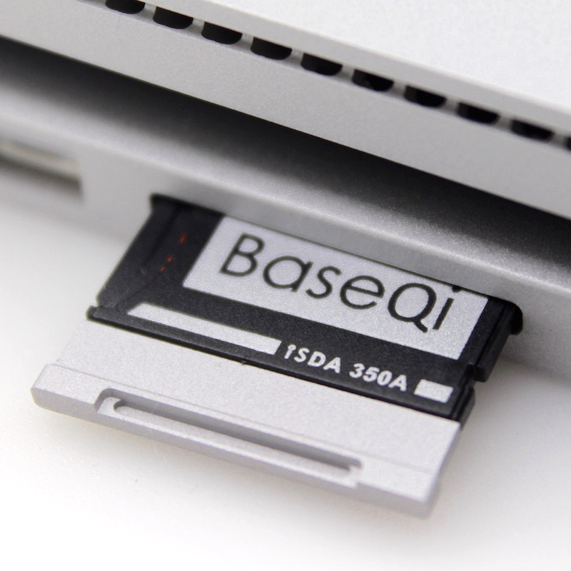 BaseQi Aluminum MiniDrive Micro SD Card Adapter TF Card Reader For Microsoft Surface Book 13''and Surface Book 2 13'' электронная книга reader book 2 черный
