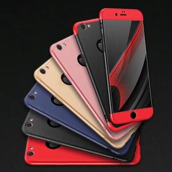 Luxe 3-en-1 360 degrés couverture complète pour iPhone 7 7 plus 6 S Plus étui antichoc givré bouclier dur couverture arrière pour iPhone6 Funda