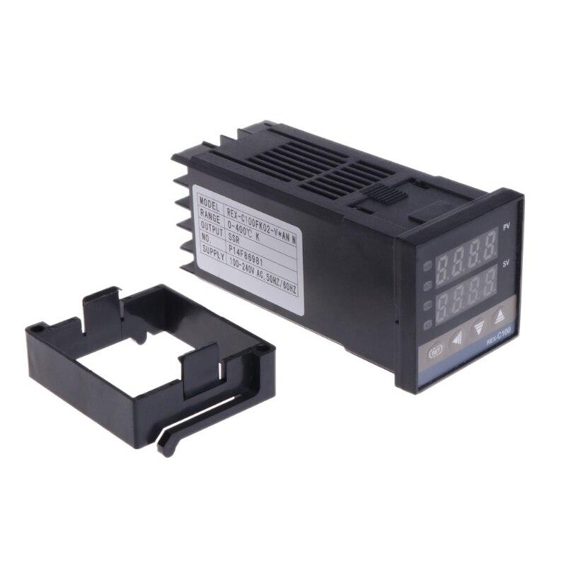 Controlador de temperatura Digital PID REX-C100 0 a 400 grados tipo K entrada SSR salida controlador de temperatura Regalo Idea despertador Digital con termómetro higrómetro humedad temperatura reloj de mesa escritorio cargador de teléfono