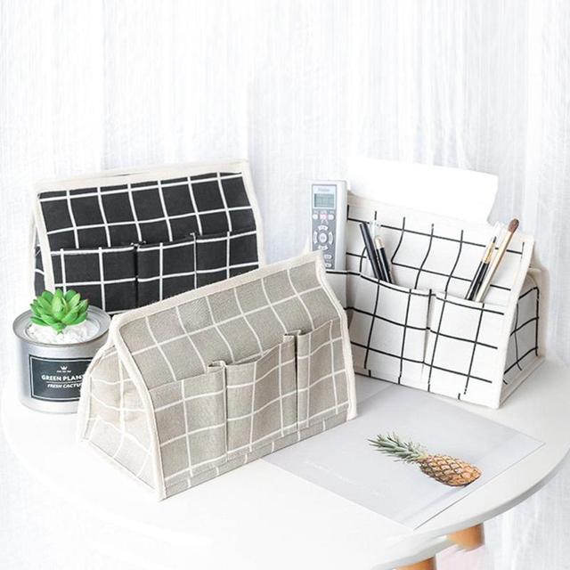 Cloth Paper Towel Box Pastoral Multifunction Tissue Box Cover Desktop Debris Storage Boxes Napkin Papers Holder & Cloth Paper Towel Box Pastoral Multifunction Tissue Box Cover ...